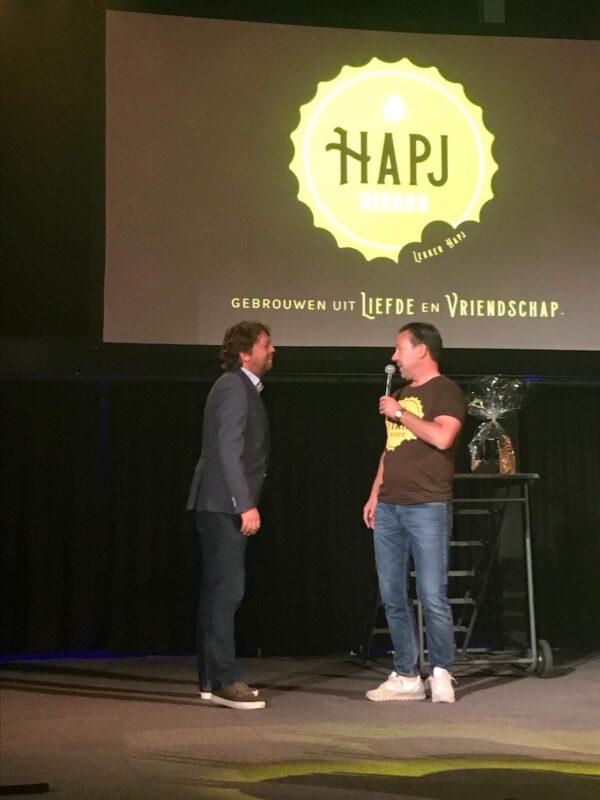JP van Gastel T-shirt tijdens presentatie